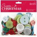 Knoflíky mix (250g) Vánoční barvy