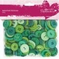 Knoflíky mix (250g) Zelené