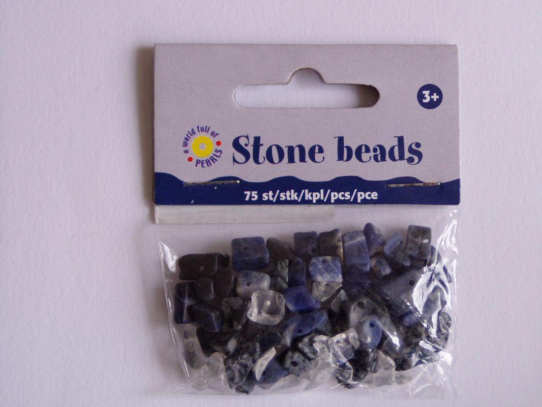 Korálky kámen - minerál 75 ks broušené zlomky ostatní