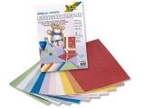 Kreativní karton 230g motiv juta metalická 10 archů 23 x 33 cm v 10ti barvách