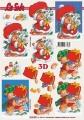 Zvětšit fotografii - Medvídek Santa s dárkama - 3D papír