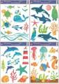 Zvětšit fotografii - Okenní fólie barevný mořský svět 42x30cm