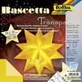 Origami hvězda Bascetta 30 listů 20x20 cm - žlutá