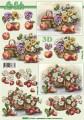 Zvětšit fotografii - Ovocný košík - 3D papír
