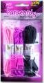 Sada na výrobu náramků z padákové šňůry- Růžová/černá
