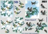 Ptáci v zimě - 3D papír
