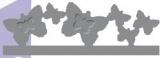 Raznice - bordura motýlci embosovací