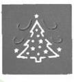 Raznice - vánoční strom embosovací 32mm