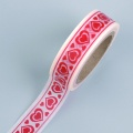 Zvětšit fotografii - Samolepicí papírová páska 10m červená srdíčka