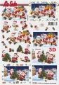 Zvětšit fotografii - Santové s dárky - 3D papír