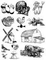 Zvětšit fotografii - Gelová razítka - sada Farma-dýně 14x18cm