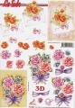 Květinové přání - 3D papír