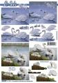 Labutě - 3D papír