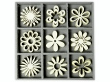 Zvětšit fotografii - Mix dřevěných dekorací KYTIČKY 45ks