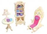 Nábytek pro panenky princezny - knihovna - blistr