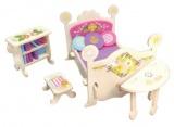 Nábytek pro panenky princezny - pokojíček- blistr