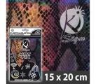Nažehlovací folie na textil HOT FIX 20x15cm hadí vzor