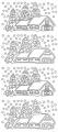 Obrysové samolepky - chaloupky stříbrné