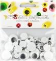 Zvětšit fotografii - Oči mix velikostí černobílé 75 ks