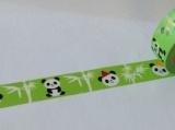 Washi Tape - dekorační lepicí páska - 10mx15mm - BÍLÉ PANDY