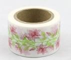 Zvětšit fotografii - Washi Tape - dekorační lepicí páska - 10mx30mm - KVĚTINY JEMNÉ