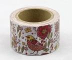 Washi Tape - dekorační lepicí páska - 10mx30mm - PTÁČEK