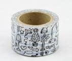 Zvětšit fotografii - Washi Tape - dekorační lepicí páska - 10mx30mm - WOW!