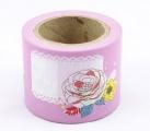 Zvětšit fotografii - Washi Tape - dekorační lepicí páska - 10mx38mm - RŮŽOVÉ POPISKY