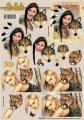 Ženy s vlkem a pumou - 3D papír