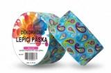 Duct Tape - dekorační lepicí páska - 5m x 48mm - ORNAMENT V TYRKYSOVÉ