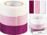 Glitter Tape - 3ks dekorační lepicí páska se třpytkami - 15mmx3m ...