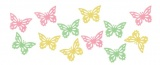 Motýlci z filcu 3,5 cm, 12 ks