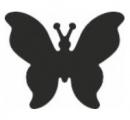 Razidlo - motýl 25 mm
