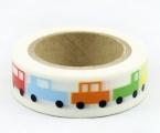Washi Tape - dekorační lepicí páska - 10mx15mm - MAŠINKY PRO DĚTI