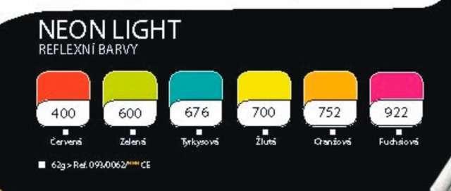Cernit polymerová hmota 56g - NEON LIGHT neónové barvy ostatní