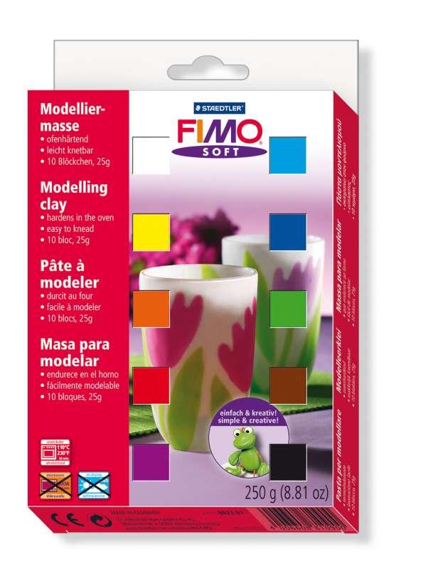 Fimo soft sada barev 12x25 g Staedtler