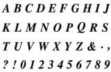 Gelová razítka - sada písmena a číslice 10 x 15 cm