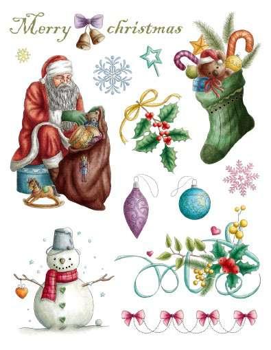 Gelová razítka - sada Vánoce Merry Christmas