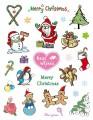 Gelová razítka - sada Vánoce Merry Christmas for you 15x20 cm