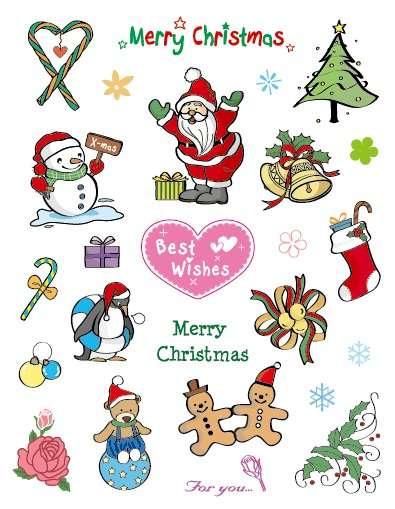 Gelová razítka - sada Vánoce Merry Christmas for you ostatní