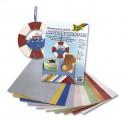 Metalizované papíry - struktura - 10ks 23x33cm, mix barev