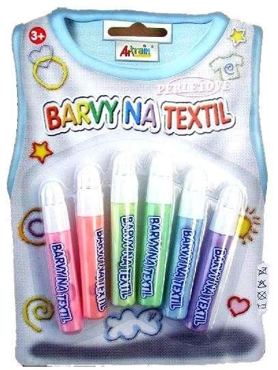 Perleťové barvy na textil blistr SMTCreatoys