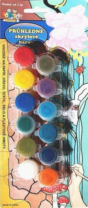 Průhledné akrylové barvy 12 kalíšků SMTCreatoys