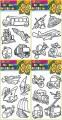 Šablony na adhézní folii - dopravní prostředky