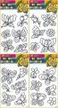 Předlohy na adhézní folii - motýli a květiny