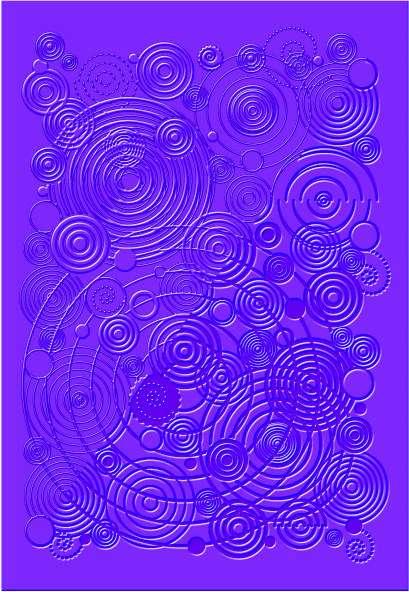 Textura - strukturovací podložka SPIRÁLY DTM