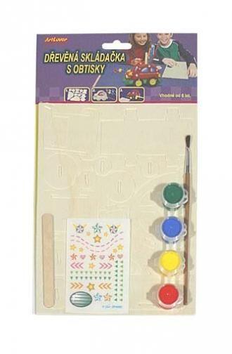 Dřevěná skládačka - stojánek na tužky SMTCreatoys