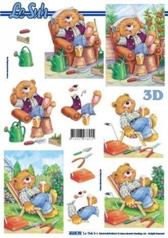 Medvídek odpočinek - 3D papír Le Suh