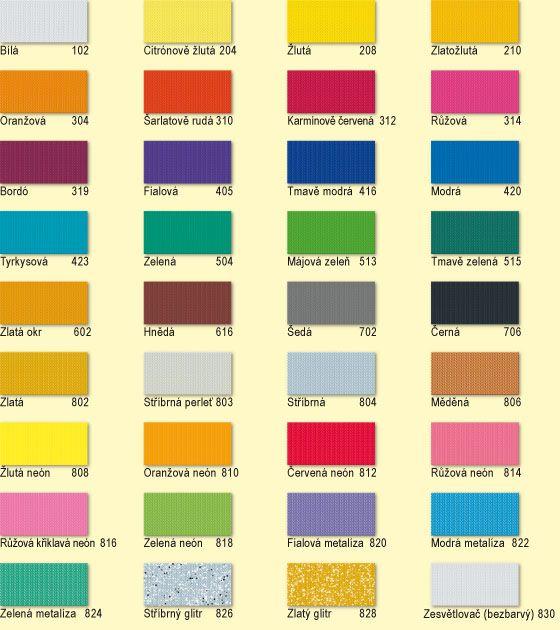 Barvy na textil Nerchau - speciální odstíny textile art