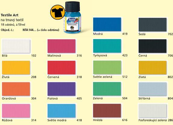 Barvy na tmavý textil Nerchau - textile art -